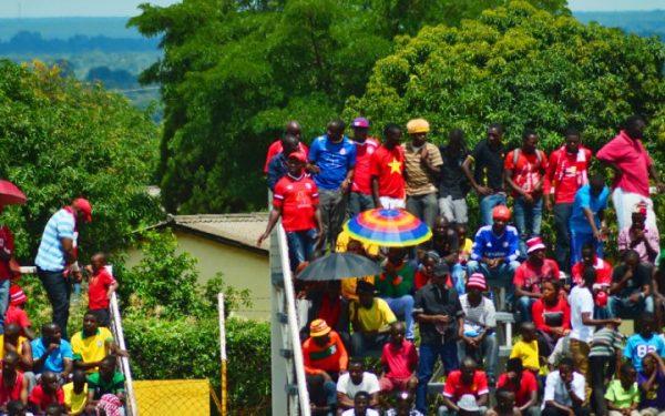Nkana fans at Arthur Davies stadium