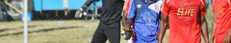 Simon Bwalya against the Elite Lusaka Dynamos