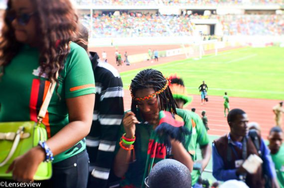 Disappointed fans at Levy Mwanawasa stadium leave before final whistle