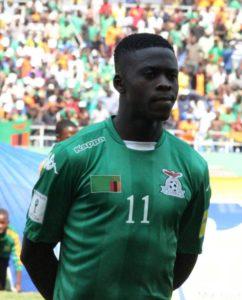 Zambia football player Chisamba Lungu