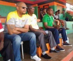 Faz vice president Richard Kazala and Kalusha Bwalya