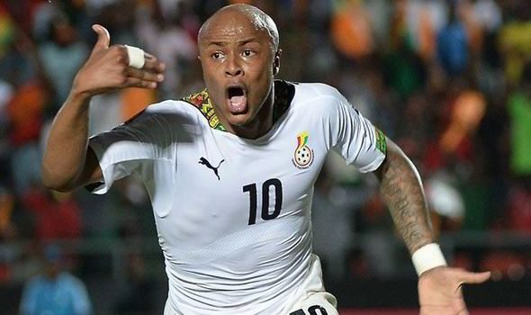 andre ayew of Ghana national football team