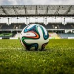 soccer ball in the pitch