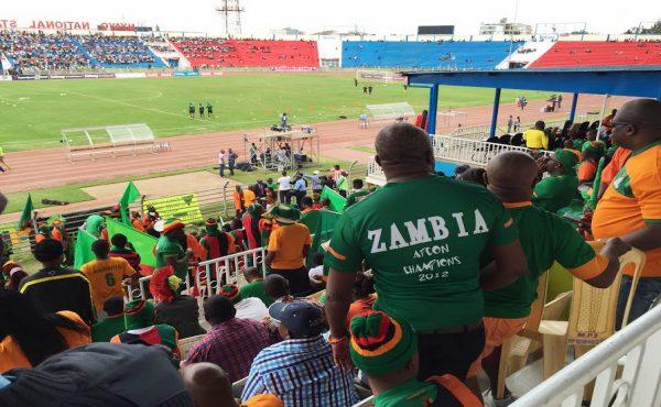 Zambian soccer team supporters in Nairobi