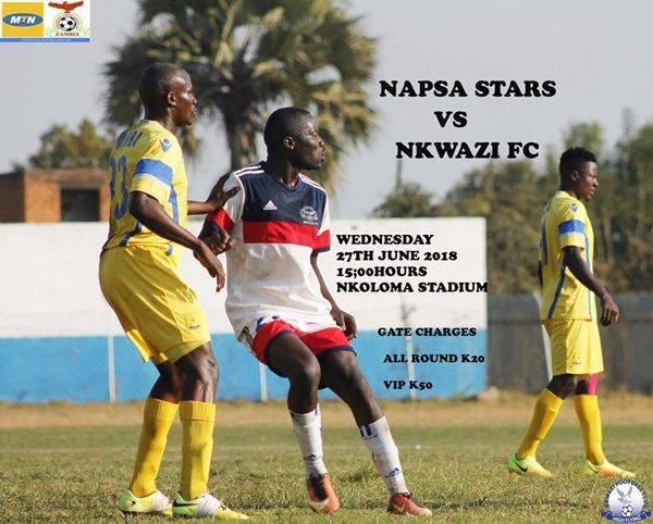 Napsa stars vs nkwazi week 20 2018