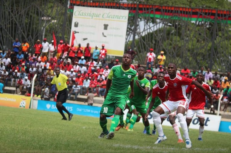 Action in the Zambia super league