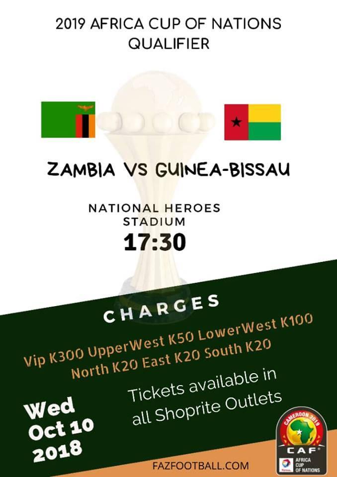 Zambia vs Guinea Bissau