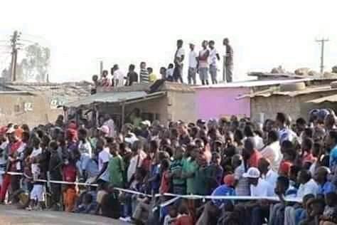 Football fans in Zambia